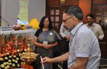 Lighting of the lamp by Sh. Rajeev Gauba, IAS during IPv6 Workshop